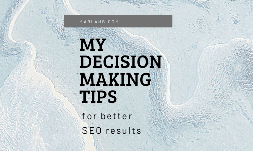 decision making seo