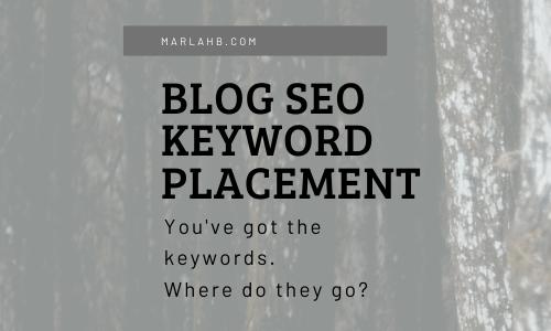 blog seo keyword placement
