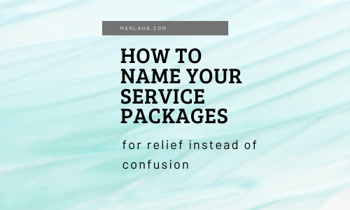 name your service packages