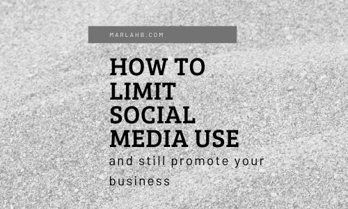 how to limit social media use seo