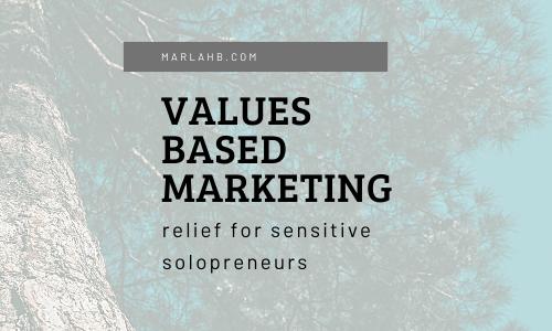 values based marketing tree background